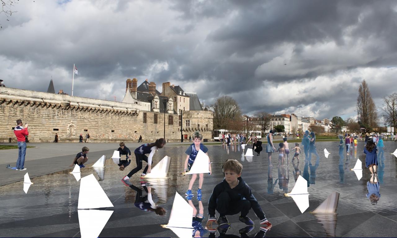 Julie Richard Le miroir d'eau à Nantes, événementiel