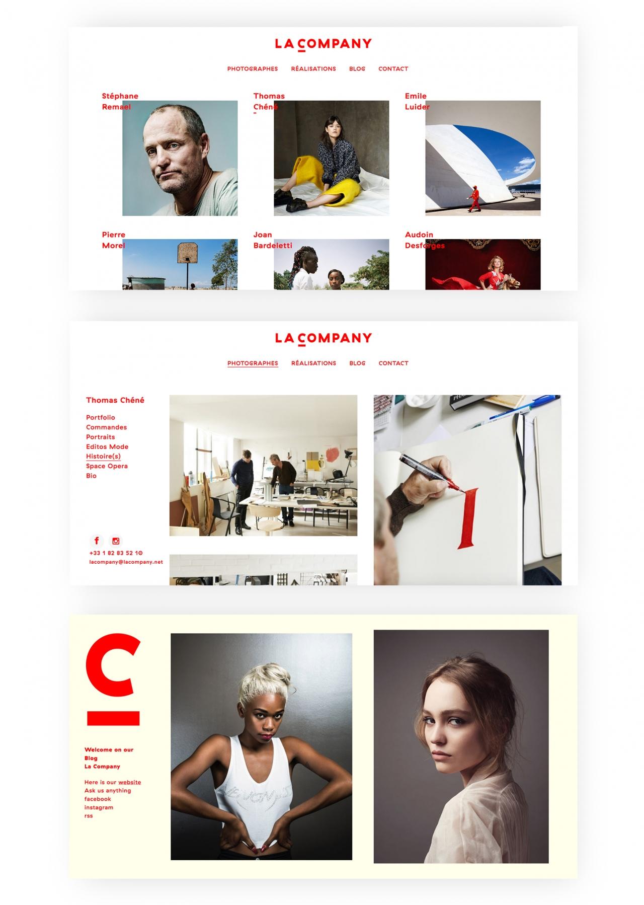Julie Richard La company, identité, webdesign